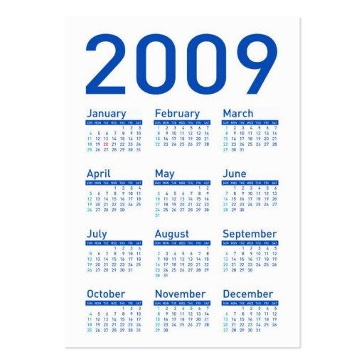 Yes We Can Celebrate - Obama Pocket Calendar Business Card Templates