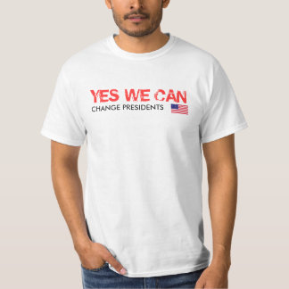 Yes We Can - Change Presidents 2012 T-shirt