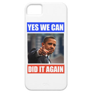Yes We Can Did It Again Obama Iphone 5 Case