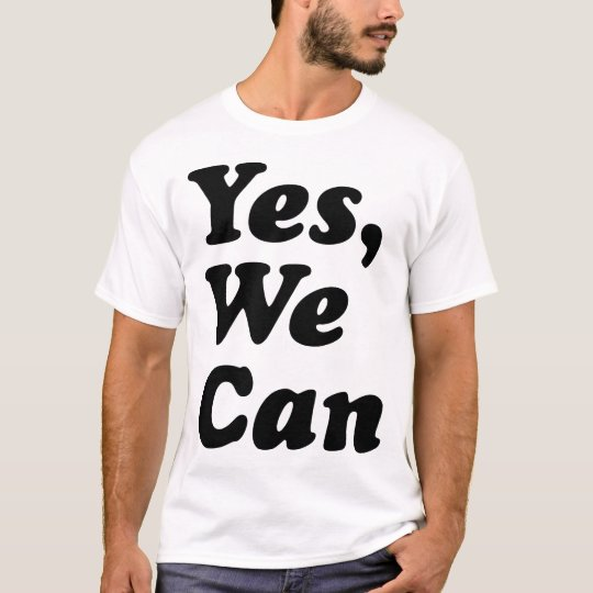 """""""Yes, We Can"""" Election 2008 Obama Campaign T-Shirt"""