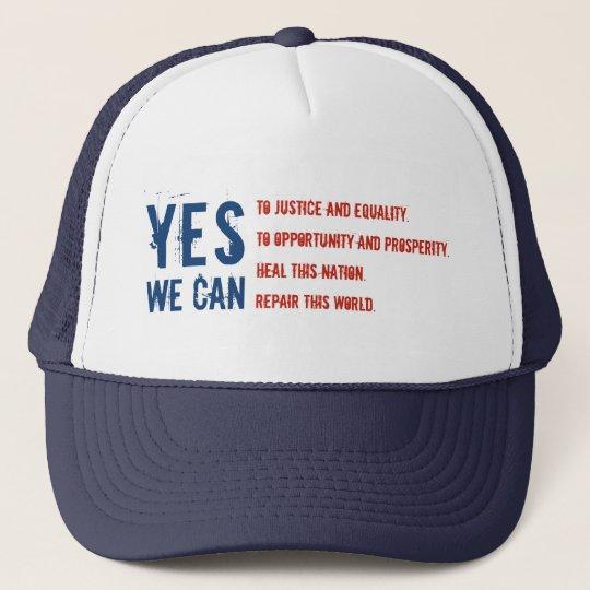 YES WE CAN flag v1 Hat