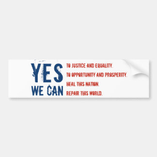 YES WE CAN flg v1 Sticker Car Bumper Sticker