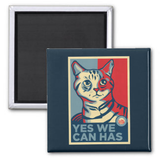 Yes We Can Has 2 Inch Square Magnet