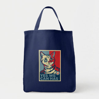 Yes We Can Has Grocery Tote Bag