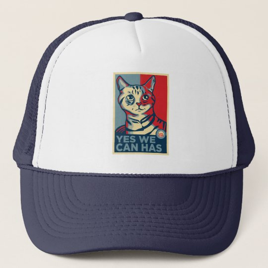 Yes We Can Has Trucker Hat