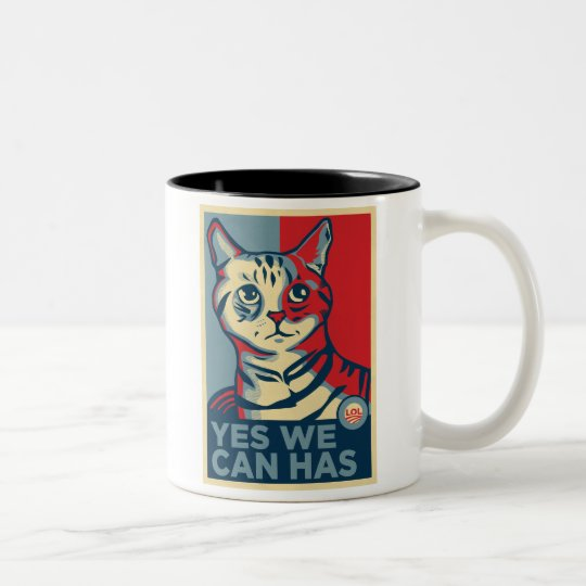 Yes We Can Has Two-Tone Coffee Mug