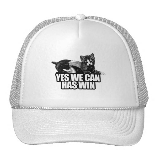 YES WE CAN HAS WIN.png Trucker Hat