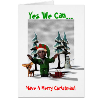 Yes We Can Have A Merry Christmas Greeting Cards