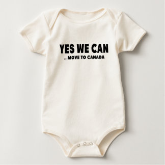 YES WE CAN MOVE TO CANADA BABY BODYSUIT