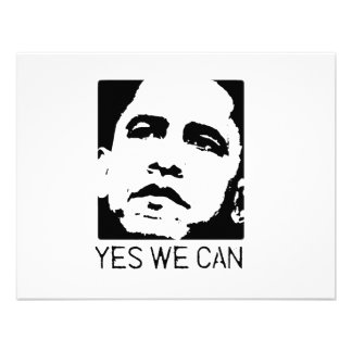 Yes we can Obama 2008 Personalized Announcement