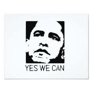 Yes we can Obama 2008 4.25x5.5 Paper Invitation Card