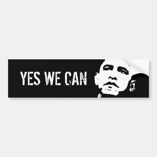 Yes we can / Obama 2008, YES WE CAN Bumper Sticker
