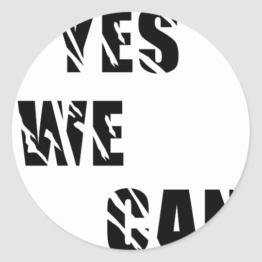 Yes We Can Obama Barack El Presidente Classic Round Sticker