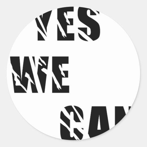 Yes We Can Obama Barack El Presidente Classic Round Sticker