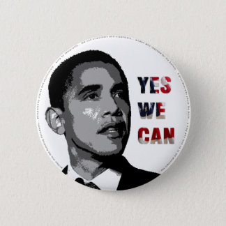 Yes We Can - Obama Political Button