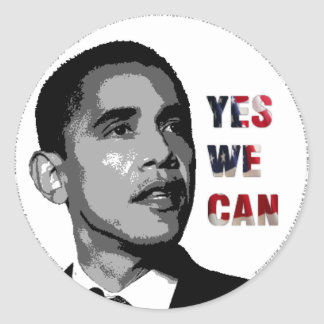 Yes We Can - Obama Political Sticker