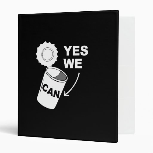 YES WE CAN OF SOUP 3 RING BINDERS
