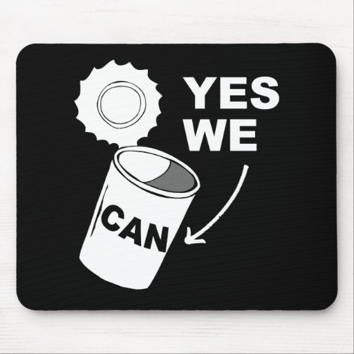 YES WE CAN OF SOUP MOUSEPADS