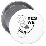 YES WE CAN OF SOUP PINBACK BUTTON