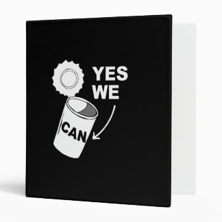 YES WE CAN OF SOUP png 3 Ring Binder