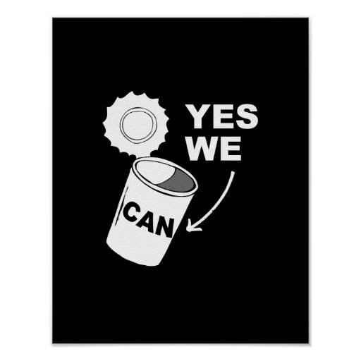 YES WE CAN OF SOUP POSTER