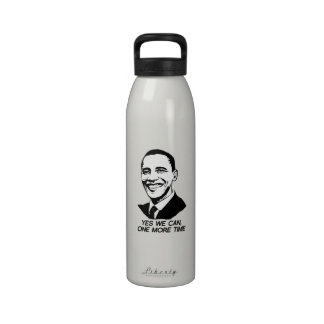 YES WE CAN ONE MORE TIME - png Reusable Water Bottle