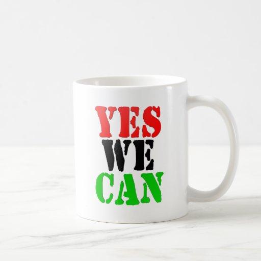 Yes We Can (Pan-African Flag) Coffee Mug