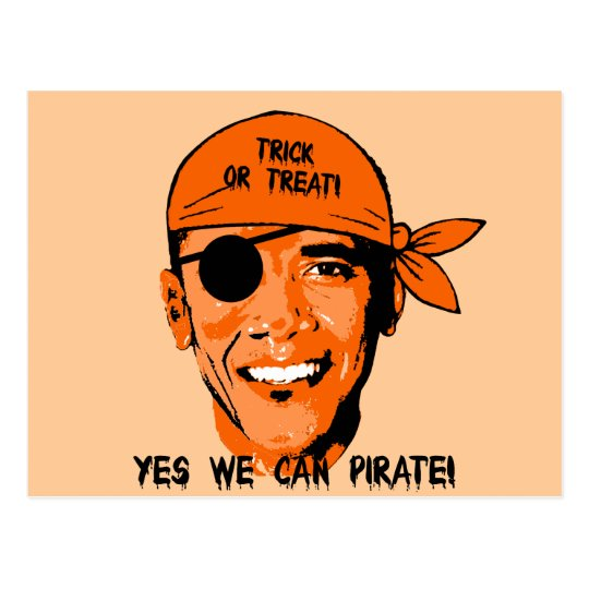 yes we can pirate postcard