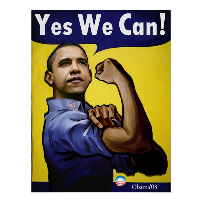 Yes We Can Poster Zazzle Com
