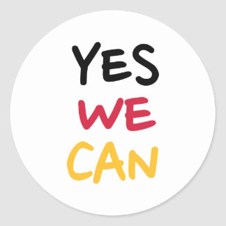 Yes we can stickers
