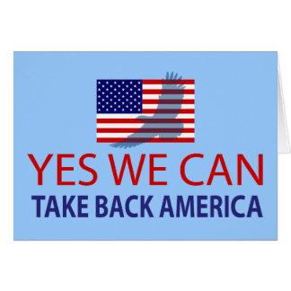 Yes We Can Take Back America Card