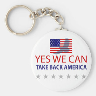 Yes We Can Take Back America Keychain