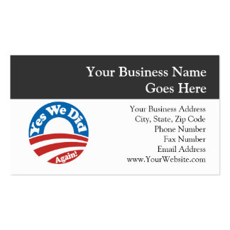 Yes We Did, Again! Business Card