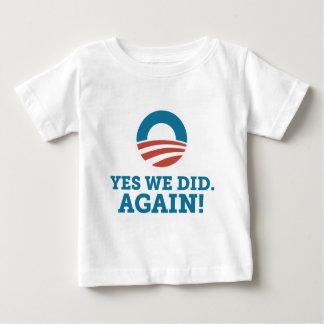 Yes We Did Again Obama Biden T-shirt