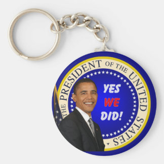 Yes We Did Key ring Basic Round Button Keychain