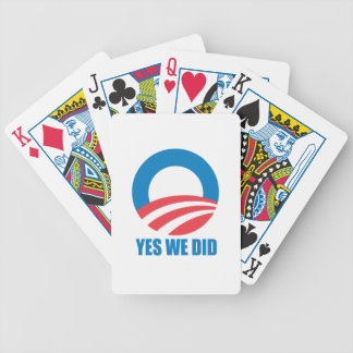 YES WE DID O -.png Playing Cards
