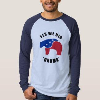Yes We Did Obama Polar Bear Long Sleeve Shirt Mens