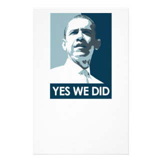 Yes we did Poster 1 Stationery Design