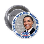 yes We Did President Obama Button