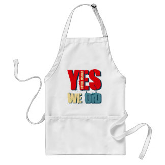 Yes We Did Voted Obama Adult Apron