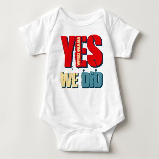 Yes We Did Voted Obama T-shirt