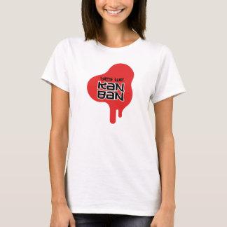 Yes We Kanban Red Drip Womens T-Shirt (Light)