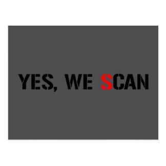 Yes, We Scan  NSA PRISM Postcard