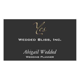Yes - Wedding Planner Business Card Template