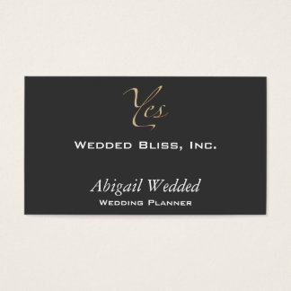 Yes - Wedding Planner Business Card