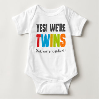 Yes, We're Identical Baby Bodysuit