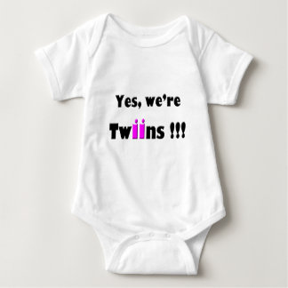 yes were twins pink-pink infant creeper