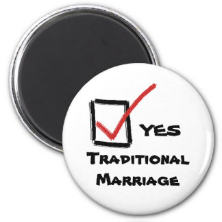 yes, YES, Traditional Marriage 2 Inch Round Magnet