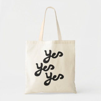 yes yes yes canvas bag
