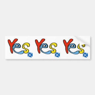Yes Yes Yes Scottish Independence Flag Sticker Car Bumper Sticker
